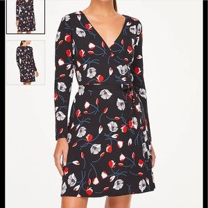LOFT PETITE BLOOM WRAP DRESS 👗 Size XS
